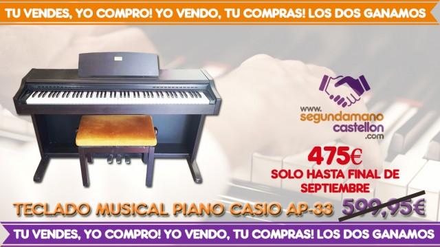 PIANO DIGITAL CASIO AP-33