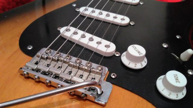 o cambio Stratocaster partcaster