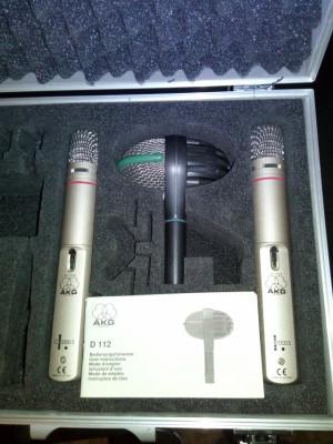 AKG drum set (D112 + c1000s silver x2)