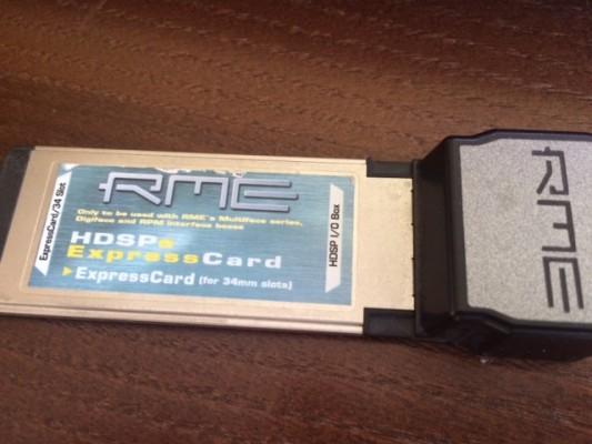 RME Hdsp expresscard tb cambio