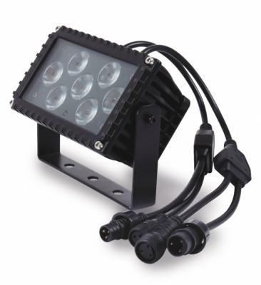 Foco led 7x3w RGB para exterior