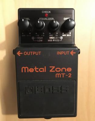 Pedal de distorsión Metal Zone Mt-2 Boss. FALTA DE USO