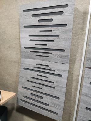 Paneles acusticos 60x60 híbridos madera y espuma