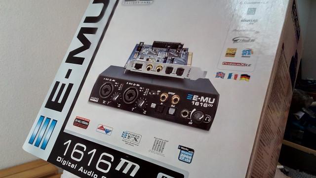 Tarjeta de sonido E-MU 1616m, PCI + interfaz