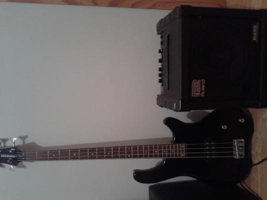 Bajo Fernandes Tremor 4 y ampli Roland Cube 30 Bass