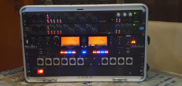 Rack grabación 16ch. 2 Focusrite (pro 40 y 18i20 2gen) + ART PRO MPA II