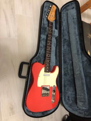 Haar Trad T , telecaster Fiesta Red ,custom shop masterbuilt