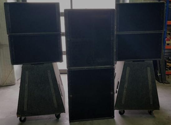 Sistema completo Nexo Alpha E: 4 módulos agudos + 4 módulos graves + procesado y amplificación