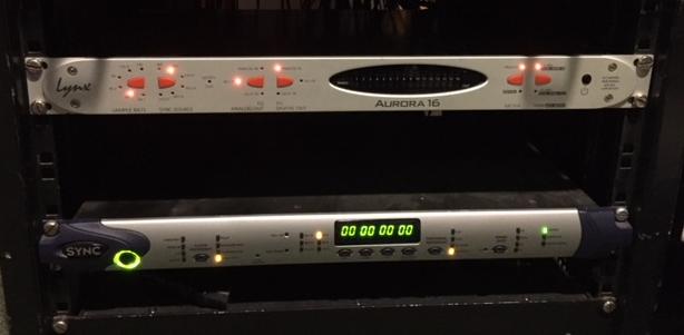 Lynx Aurora 16 + Modulo LT HD + AES 16 e + SYNC Digidesign