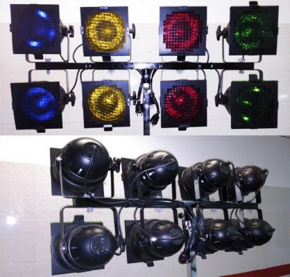 equipo completo 24 luces sicodelicas....