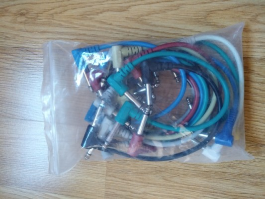 Set de patch cables varias longitudes, mono + stereo