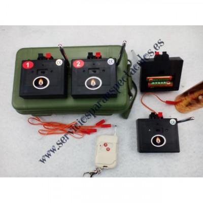 Sistemas de disparo de pirotecnia y consolas de disparo