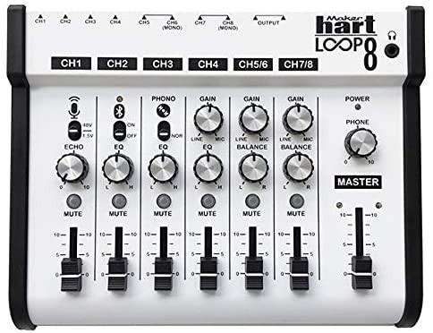 Maker hart Loop Mixer 8 Mezclador Bluetooth 3,5 y 6,3 mm, Phono, EQ, Mic