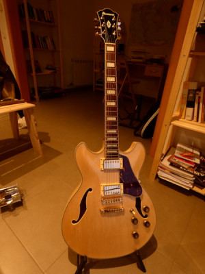 Ibanez AS73 + gibson 57 Classic