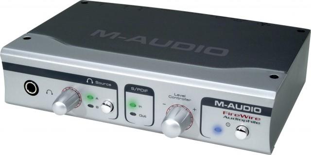 Tarjeta de sonido M-Audio Firewire Audiophile