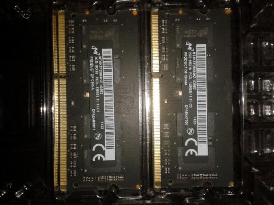 4GB (2x2) de Memoria RAM