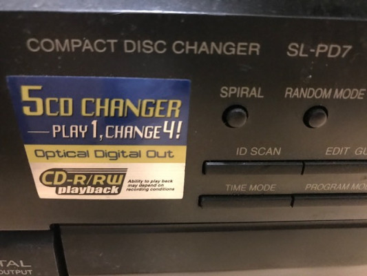 Lector Technics de 5 CD Carrousel SL-PD7