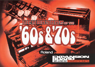 "OPORTUNIDAD:Tarjeta Roland ""Keyboards of the 60s&70s""(SR-JV80-08)"