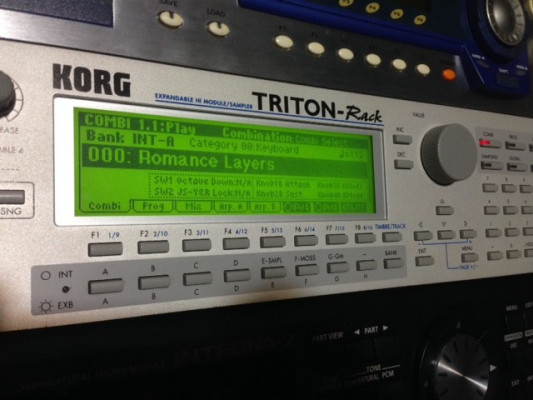 Korg Triton rack + EXB-PCM08+EXB-PCM02+EXB-PCM06 /07