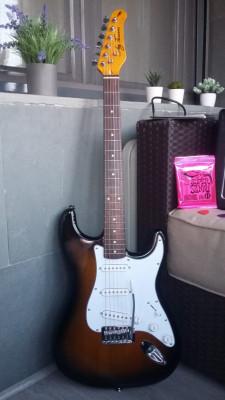 Kit completo de guitarra para comenzar.