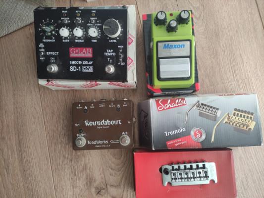 Vendo varios pedales MAXON SD9 ,GLAB DELAY y LOOPER SIGNAL TOAD WORKS.