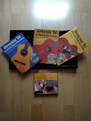 Vendo: Curso de guitarra: Incluye 3 CD´s,3 libros y 1 DVD.