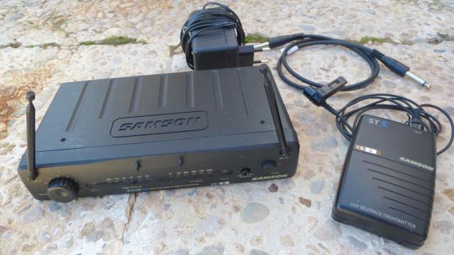 SAMSON SR55 Micrófono inalámbrico (micro + receptor VHF). En perfecto estado