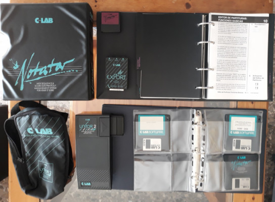 Atari C-Lab Notator completo con llave original, manual, Unitor 2 y Export