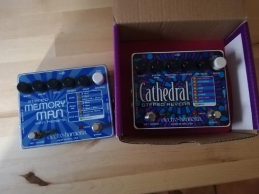 Electro Harmonix Cathedral y Memory Man Stereo w/ Hazarai