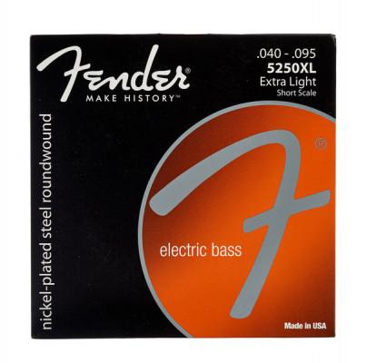Cuerdas de bajo escala corta Fender