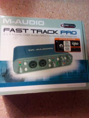 Tarjeta sonido M-audio fast track pro