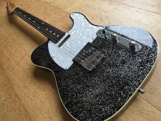 telecaster custom 62 japan black sparkle