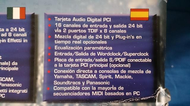 Cambio SoundScape DSP MiXtreme 192 PCI !!!
