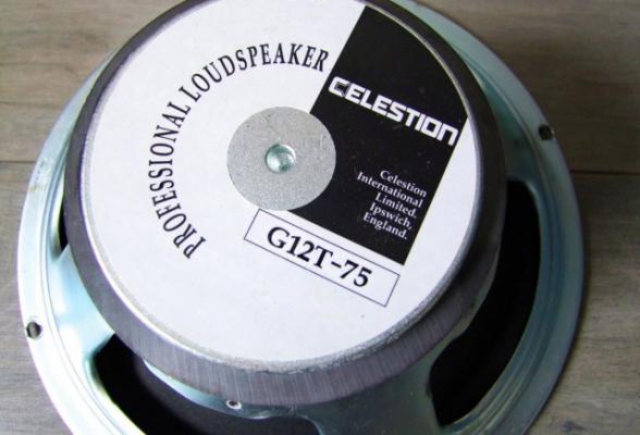 Speaker Celestion G12T-75 made in England Altavoz UK