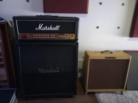 Marshall jcm 2000 tls 100 + randall cabinet 4x12
