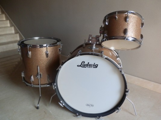 Batería Ludwig Hollywood Champagne Sparkle 1966 Vintage