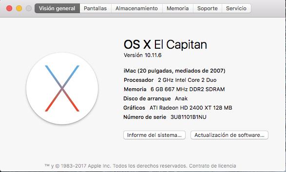 "iMac 20"" aluminio"