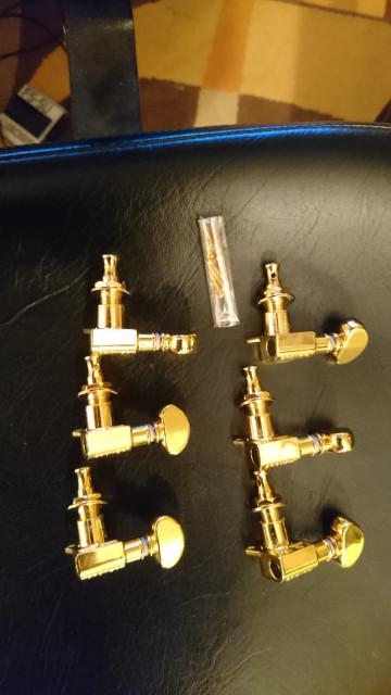 Clavijeros, afinadores, o clavijas,  Grover ROTOMATICSUSA USA Dorados