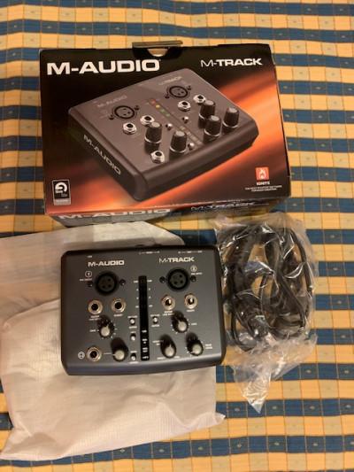 Tarjeta de Sonido M-audio M-Track de 2 canales
