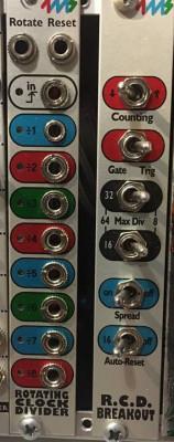 4ms Rotating Clock Divider +RCD Breakou