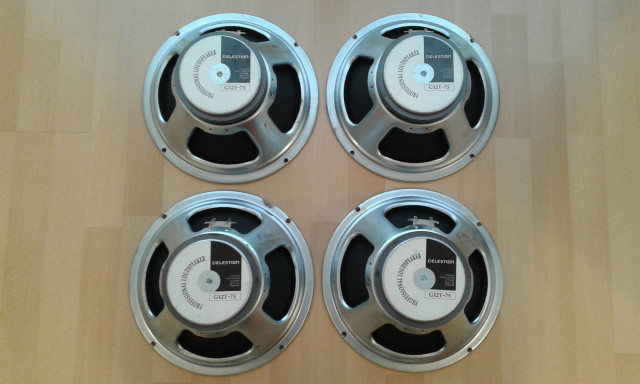 4 Celestion G12T-75 Made in England