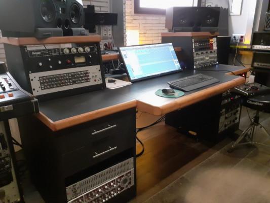Studio Desk hecho a mano, desmontable en 3 piezas, maciza