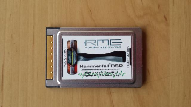 RME Hammerfall tarjeta PCMCIA y cable