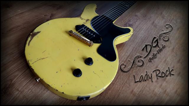 """Les Paul junior """"DG Lady rock"""""""