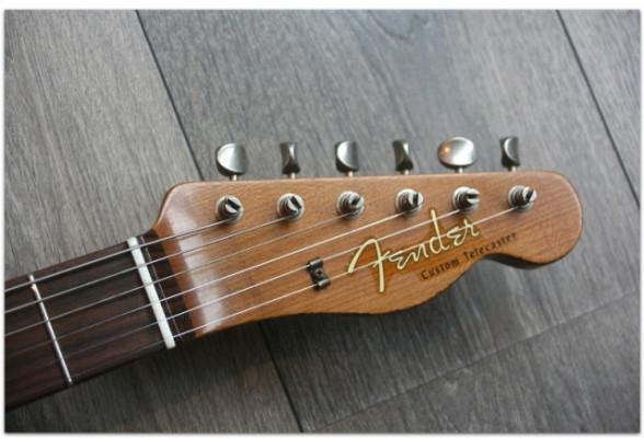 FENDER Limited Heavy Relic Reverse Custom HS Tele Aged Black Over 3 Color Sunburst