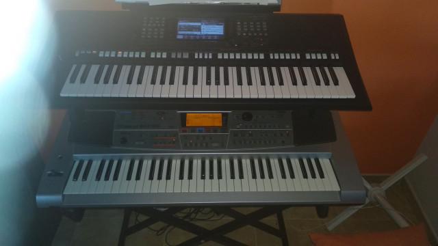 Yamaha PSR775 y Roland EM55