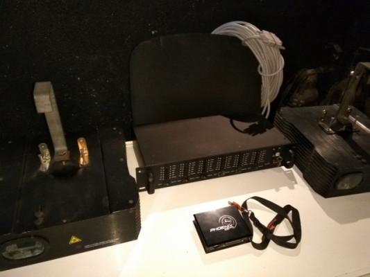 Sistema 2 lasers Laserworld CS 1500 RGB y controladoras
