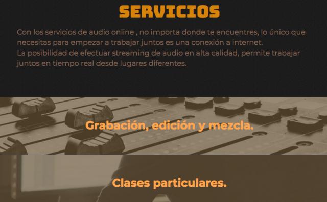 Edición y mezcla online.