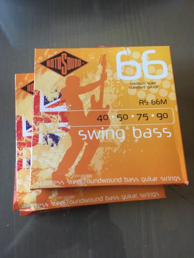 2 juegos de Cuerdas de Bajo ROTOSOUND RS66M ENTORCHADO ESTRIADO