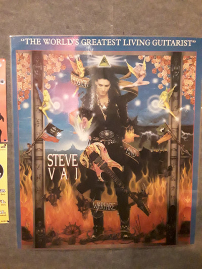 Poster grande steve vai passion and warfare original del año 1990/ plastificado/ impecable